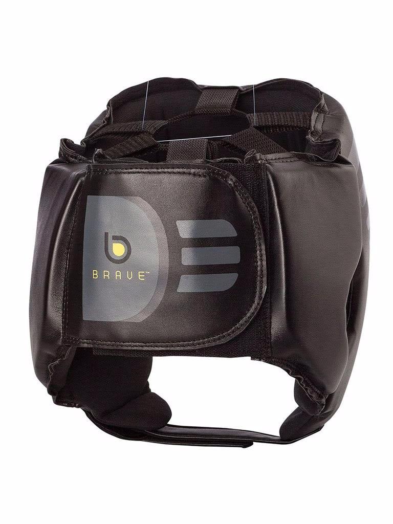 Open Face Head Gear Black Grey S M