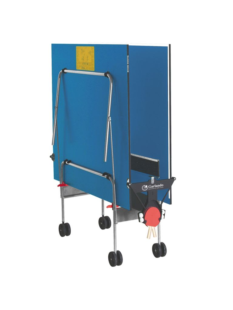Training Indoor Foldable TT Table with Wheels - Blue Top
