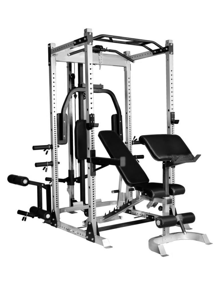 Half Cage Smith Machine with Bench + 100 Kg Weight Set