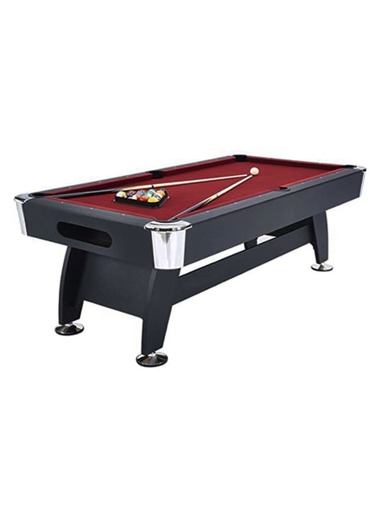 Noir Kids Use Billiard Table 7 Ft. Black Finish Wooden Base with Red Cloth | Ball Return