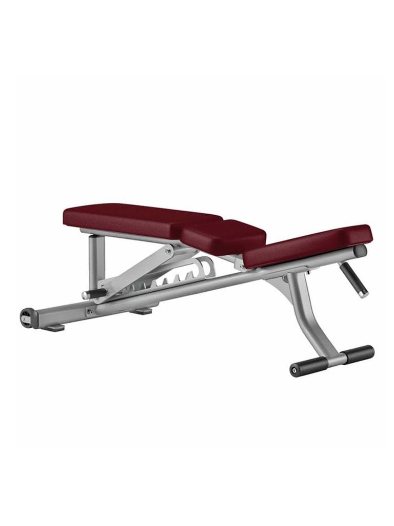 Optima Series Adjustable Bench   Platinum - Cranberry