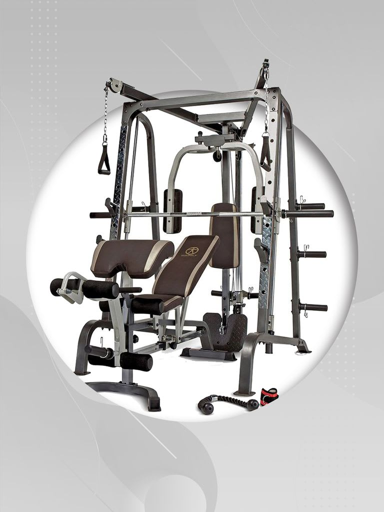 Smith Machine MD-9010G + Olympic Disc with Barbell 100 Kg
