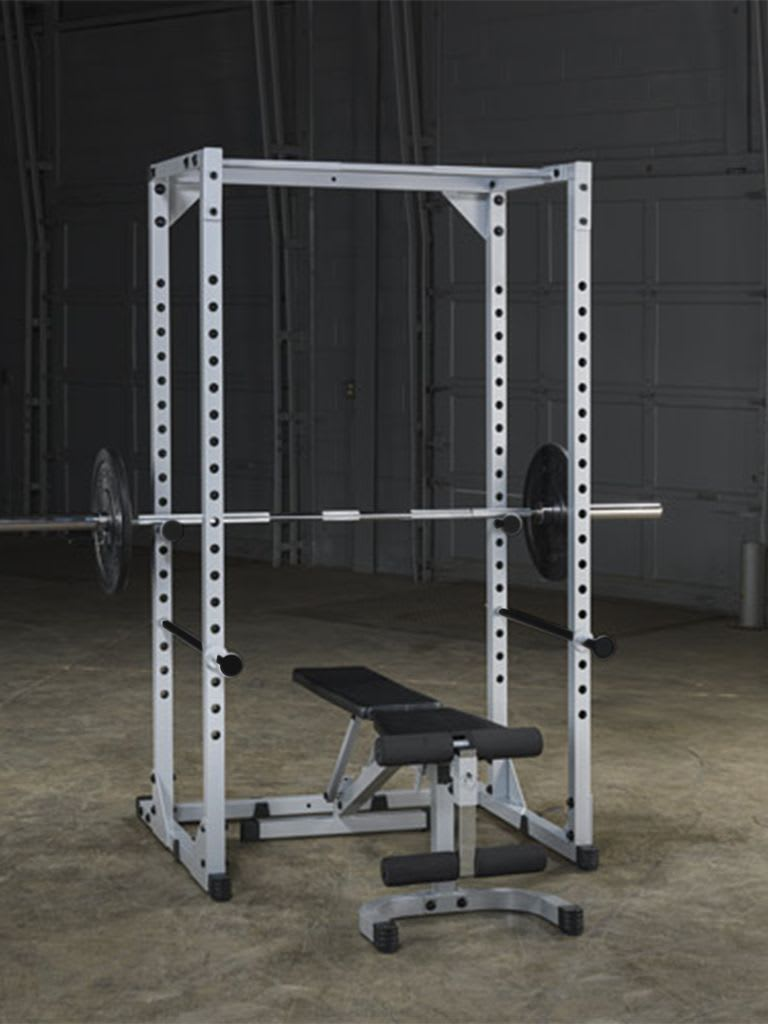 PPR200X Powerline Power Rack + Olympic Rubber Grip Disc with Barbell Combo
