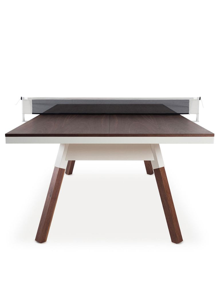 You and Me Standard Indoor Outdoor Ping Pong Table   Iroko Wood Legs