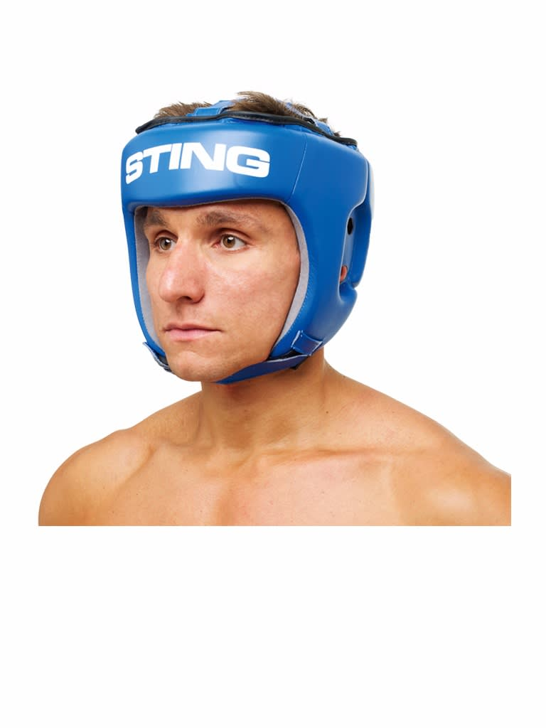 Competition Leather Head Guard Aiba Blue Blue S