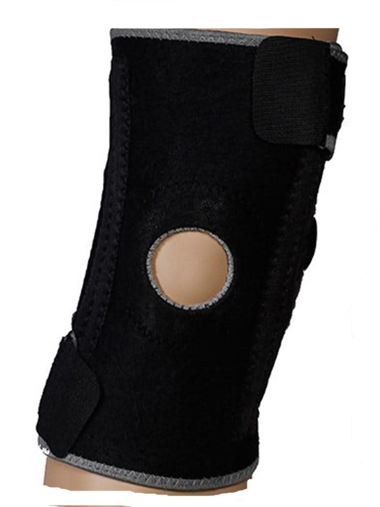 Knee Support with Open Pattela Terry Cloth