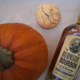After Dark Cookies presents the Bella Pumpkin Bourbon cookie