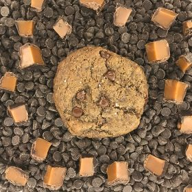 After Dark Cookies presents the Dark Chocolate Salted Caramel cookie