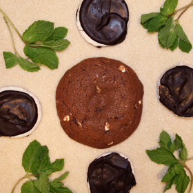 After Dark Cookies presents the Peppermint Patty cookie