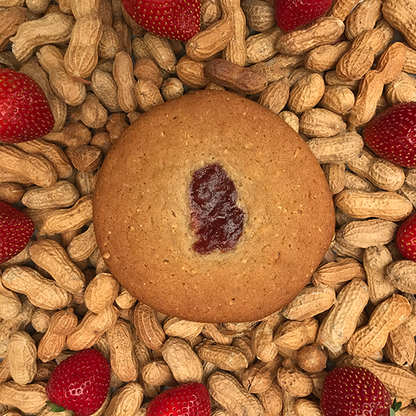 After Dark Cookies presents the Bliss PB&J cookie