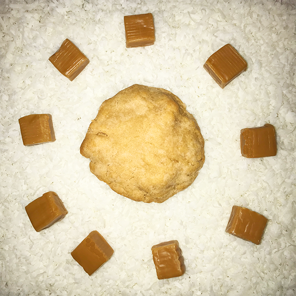 After Dark Cookies presents the Coconut Salted Caramel cookie