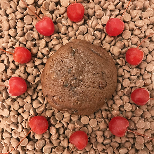 After Dark Cookies presents the Chocolate Cherry Amaretto cookie