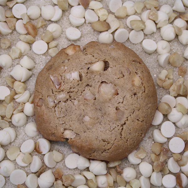 After Dark Cookies presents the White Chocolate Macadamia Nut cookie