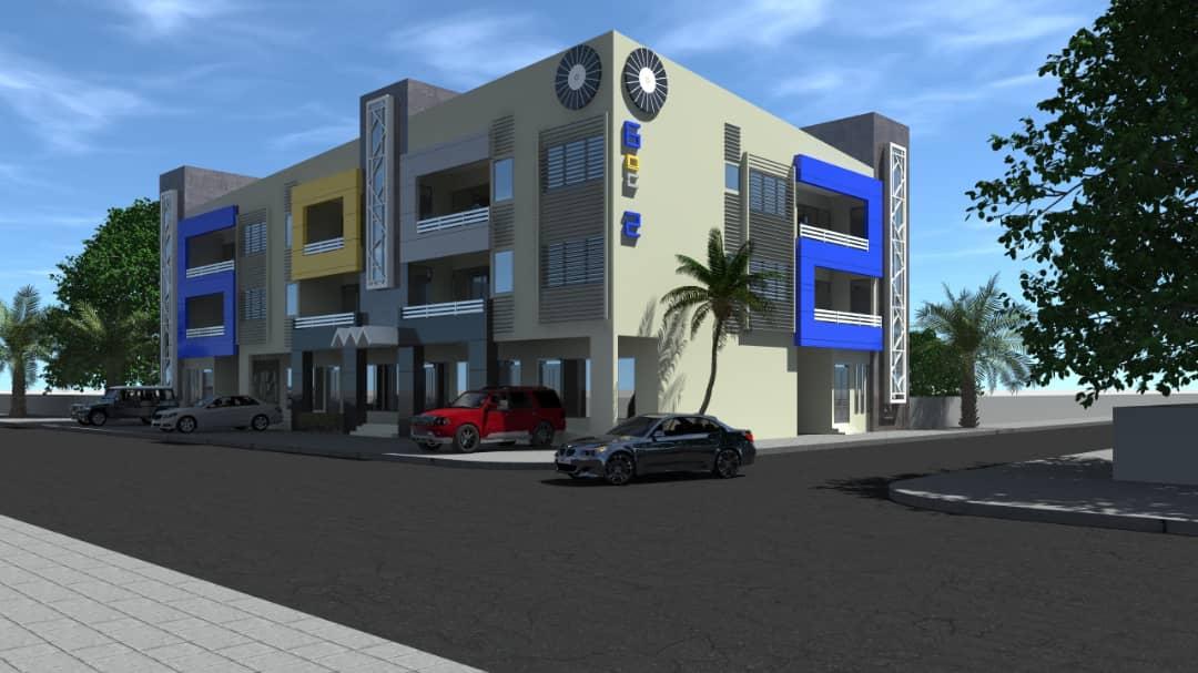 Immeuble 6-OC-2 - Bâtiment R+2 de Commerce et Bureaux/Appartements
