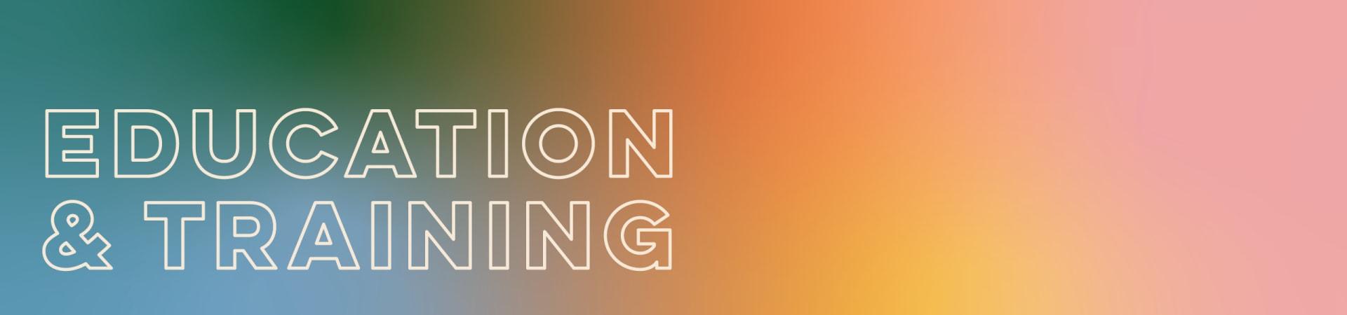 Rainbow Gradient Education Banner