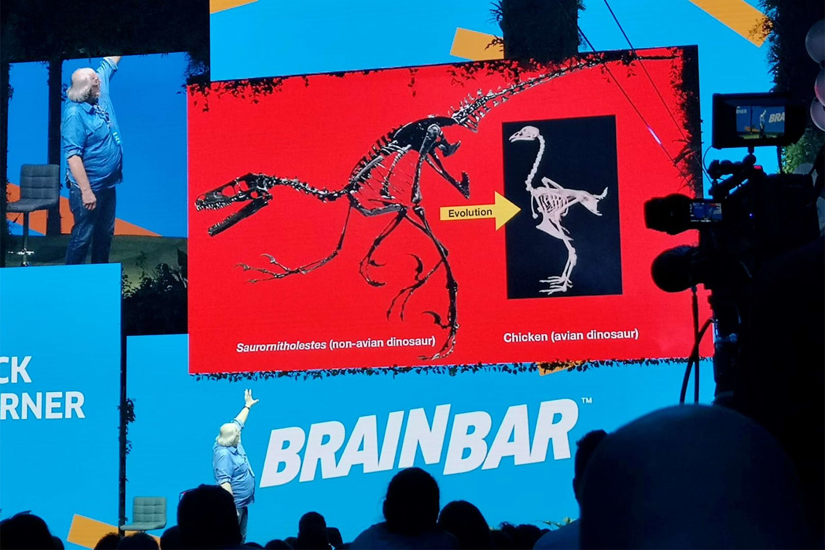 404 at Brain Bar: Dinosaurs and robots