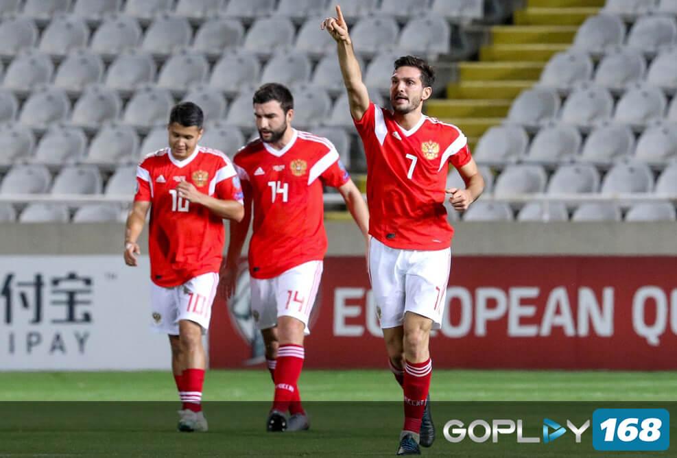 Rusia Mengikuti Belgia Lolos Kualifikasi Piala Eropa 2020