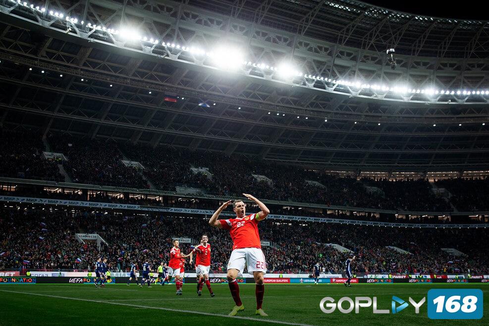 Rusia Vs Skotlandia Dzyuba Mencetak 2 Gol