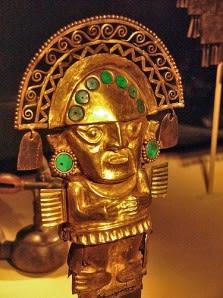 solid gold warrior figure