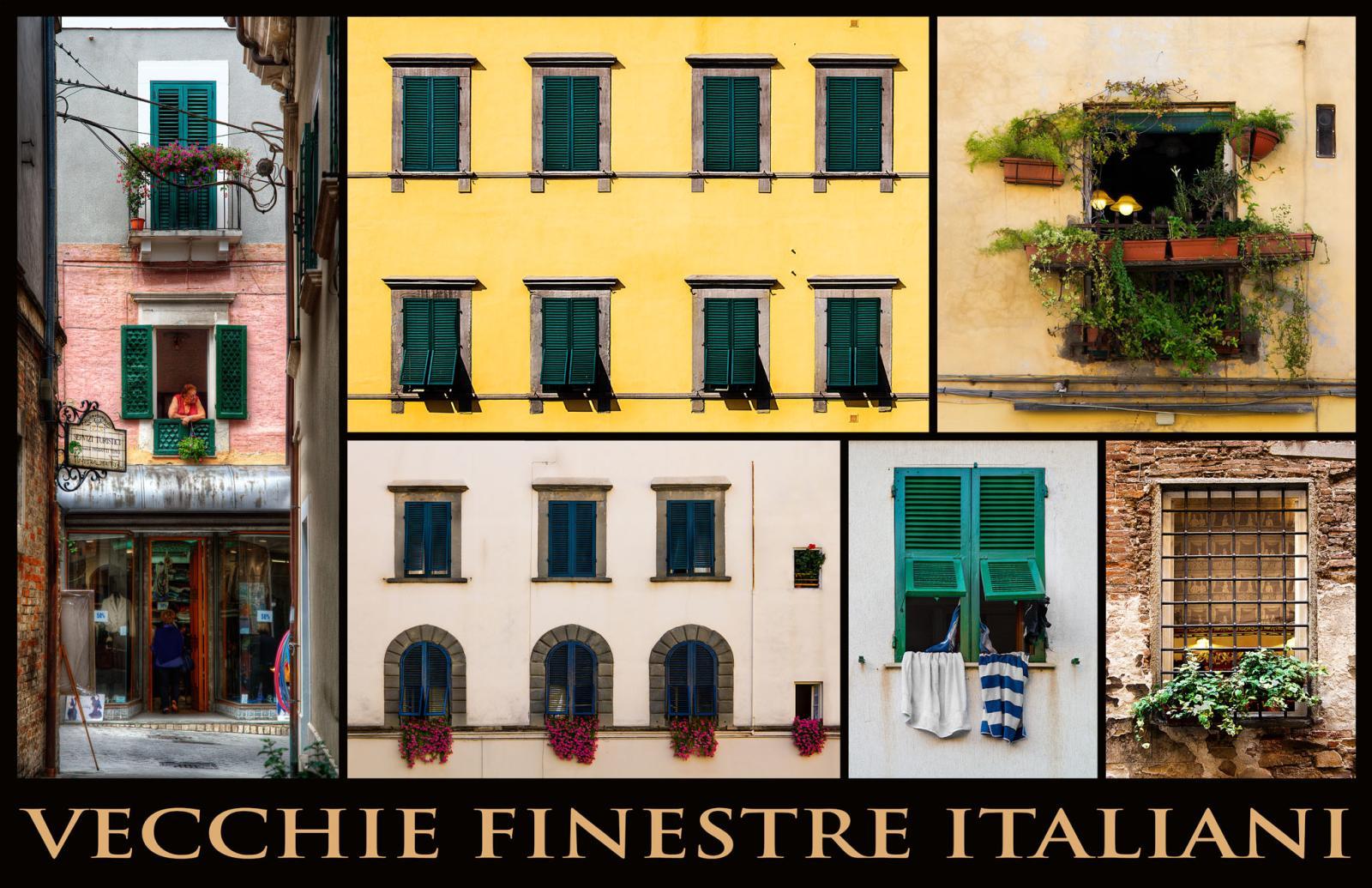 vecchie finestre italiani