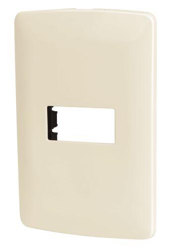 PLACA PARA SWITCH DOBLE VOLTECK PLASTICA PLATA PPDO-IP 46398