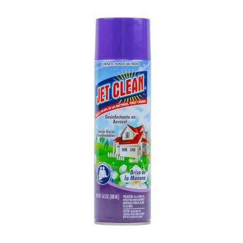 DESINFECTANTE JET CLEAN EN AEROSOL BRISA DE MAÑANA 500ML