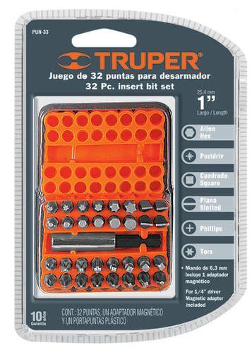 TRUPER PUN-33  32PC INSERT BIT SET