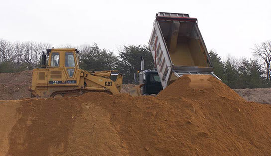 At The Stone Store we carry several types of fill material such as: soil fill, select fill, structural fill, sandy clean fill, common borrow fill, screened sand, RC-6 recycled crusher run, core trench clay and clay fill.