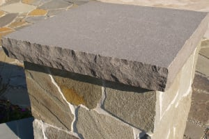 Bluestone with Rockfaced Bluestone Cap