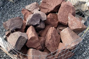 Autumn Red Accent Boulders