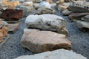 Boulders in our Stone Yard