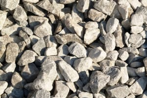 number 57 stone, gray white stone