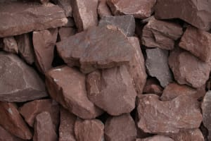 one to three inch red brown crushed stone