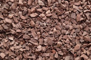 half inch red brown crushed stone