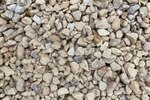 tan colored stone, crushed sand stone
