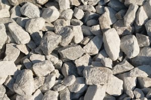 gray and white crushed stone, number 2 stone