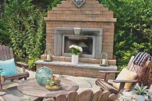 Verona Fireplace Adobe Blend