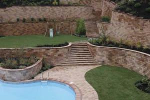 Multi-tiered retaining walls
