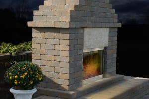 Outdoor Fireplace Adobe Blend