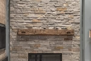 Diamond Point Ledgestone Fireplace