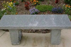 Blue Gray Stone Bench