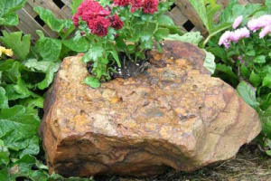 Drilled Stone Planter