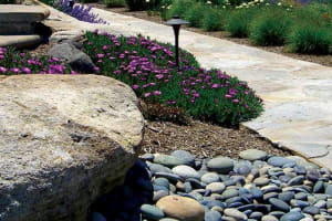 Boulder, Beach Pebbles & Irregular Flagstone