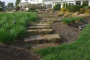 Hillside Garden with Slabs