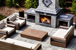 Techo-BlocExterior Fireplace