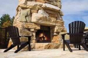 Champlain Exterior Fireplace