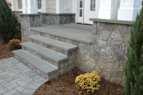 Bluestone Treads and Champlain Stone Wood Creek Granite Stone