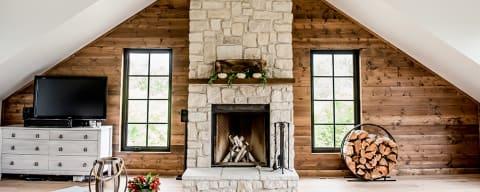 Eldorado Stone Veneer Fireplace