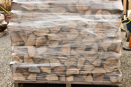 Hardwood Firewood: split, shrink-wrapped and ready for delivery