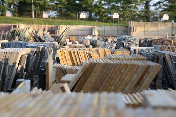 Pallets of flagstone, sandstone and much more in our fully stocked stone yard